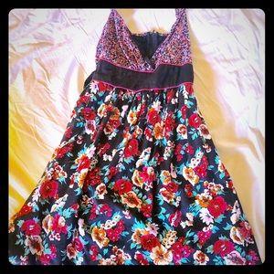 Dresses & Skirts - Flower black, white, and red dress